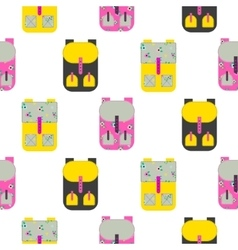Backpack seamless pattern vector