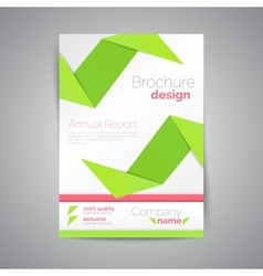 Geometric brochure a4 origami style material vector