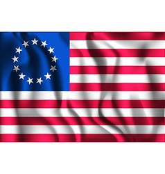 American betsy ross flag rectangular shaped vector