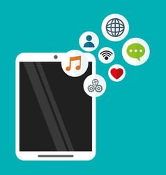smartphone wireless technology communication vector image