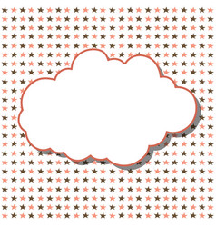 Cloud frame seamless pattern with stars on white vector