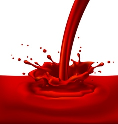 Red paint splashing vector image