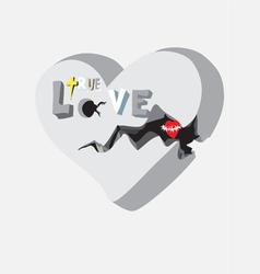 True love vector image