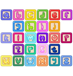 lower case alphabet blocks vector image