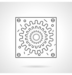 Abstract virion icon flat line design icon vector