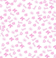 Pink watercolor floral background vector