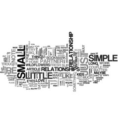 A little goes a long way text word cloud concept vector
