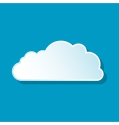 Altocumulus cloud icon vector image