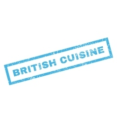 British cuisine rubber stamp vector