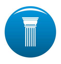 Building column icon blue vector