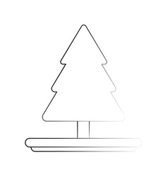 cartoon tree pine draw vector image