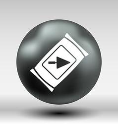 Cement bag icon button logo symbol vector