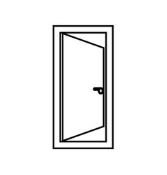 door black color icon vector image vector image