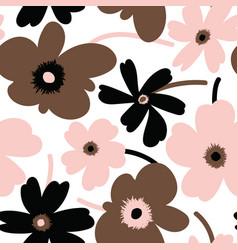 Elegant floral seamless pattern vector