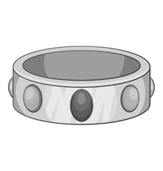Gemstone bracelet icon gray monochrome style vector