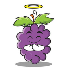 Innocent grape character cartoon collection vector