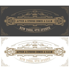 Invitation card template vintage vector
