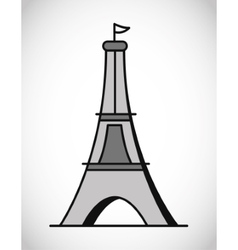 Isolated eiffel tower design vector image vector image