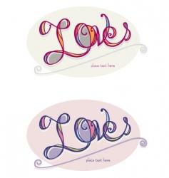 love word art vector image vector image