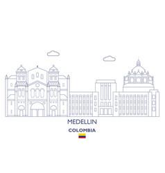Medellin city skyline vector