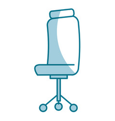 Office chair isolated icon vector