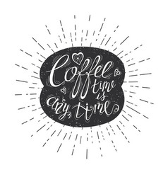quote on coffee bean vector image