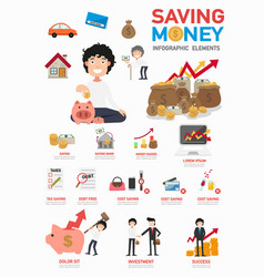 saving money infographics vector image vector image