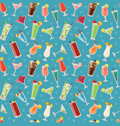 Set of alcoholic cocktails drinks party alcohol vector