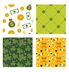 Set of seamless background patterns for st vector