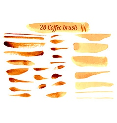 Set of Watercolor Coffee Lines vector image vector image