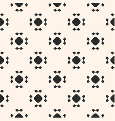 simple seamless pattern rounded floral figures vector image vector image