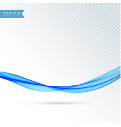 Smooth flowing blue abstract wave vector