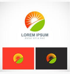 sun shine ecology nature logo vector image