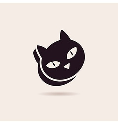 Symbol cat food stylized silhouette vector