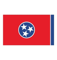Tennessee flag vector image vector image