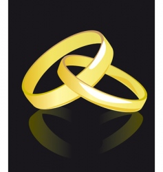 two rings for newlyweds vector image vector image