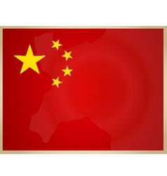 Vintage China Flag vector image