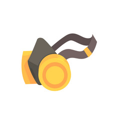 yellow respirator protective equipment cartoon vector image