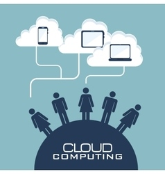 Cloud computing data icon vector