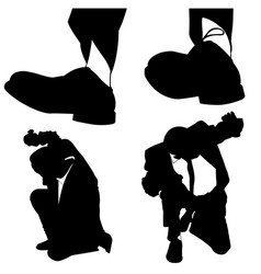 businessmen being stepped on vector image