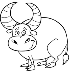 Zodiac taurus or bull coloring page vector