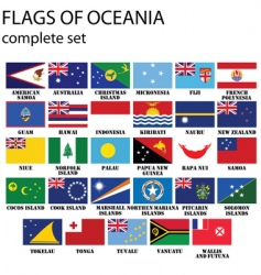 Flags of oceania vector