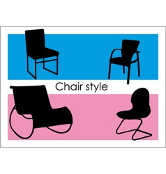 Chair style vector