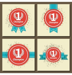 Flat design award signs vector