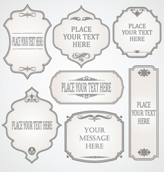 Set of frames calligraphic design vector