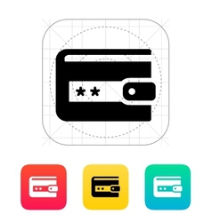 Wallet protection icon vector image