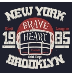 Football Athletic T-shirt design vector image