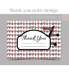 Thank you note - direction sign from wonderland vector