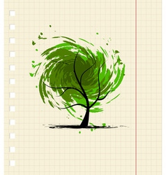 Grunge tree for your design vector