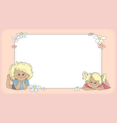 Background with children template for card vector image
